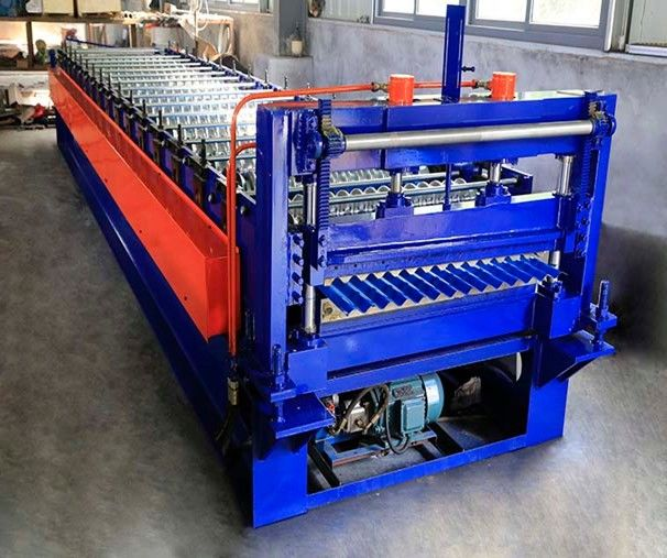 0.25-0.6mm Corrugated Roof Making Machine / Corrugated Sheet Roll Forming Machine